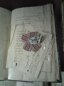 Cockade on Registration Documents at the Foundling Museum